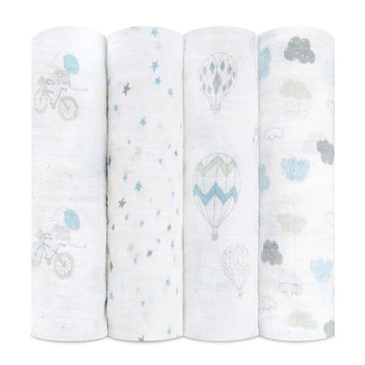 Set 4 Mantas de Muselina Clásica Swaddle Night Sky Reverie Aden and Anais