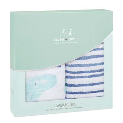 Mantas de Muselina Clásica Swaddle 2 Pack Seafaring Aden and Anais