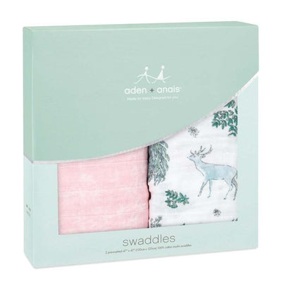 Mantas de Muselina Clásica Swaddle 2 Pack Forest Fantasy Aden and Anais