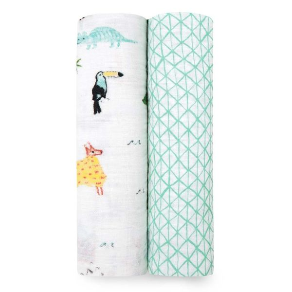 Mantas de Muselina Clásica Swaddle 2 Pack Around the World Aden and Anais