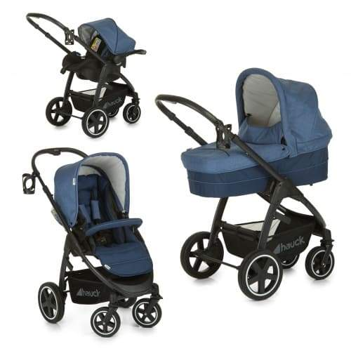 Coche Travelsystem Soul Plus Trio Set Navy Hauck Blanca y Augusto