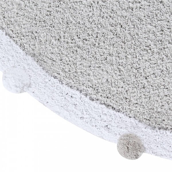 Alfombra Lavable Bubbly Soft Light Grey Lorena Canals Blanca y Augusto