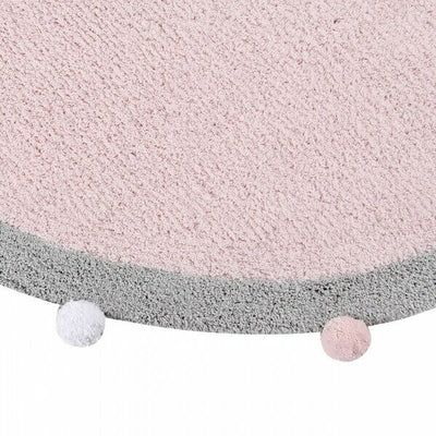 Alfombra Lavable Bubbly Soft Pink Lorena Canals Blanca y Augusto