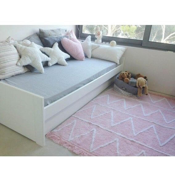Alfombra Lavable Hippy Soft Pink Lorena Canals