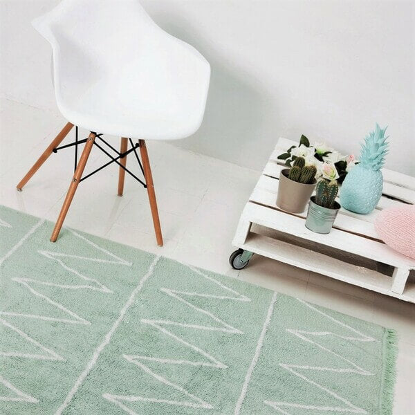 Alfombra Lavable Hippy Soft Mint Lorena Canals