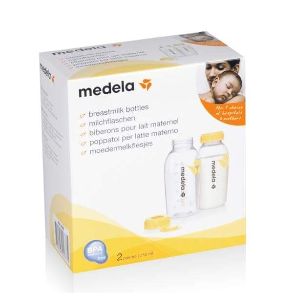 Set de 2 botellas 250 ml Medela Blanca y Augusto