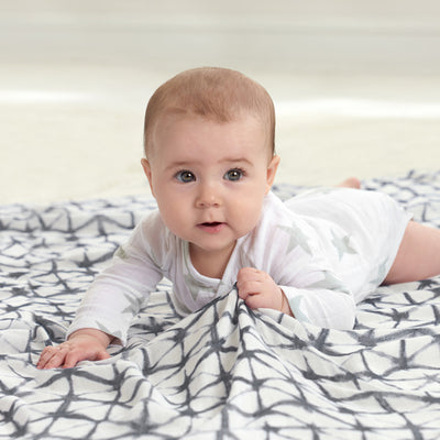 Set 3 Mantas de Muselina Suave Swaddle Pebble shibori Aden and Anais