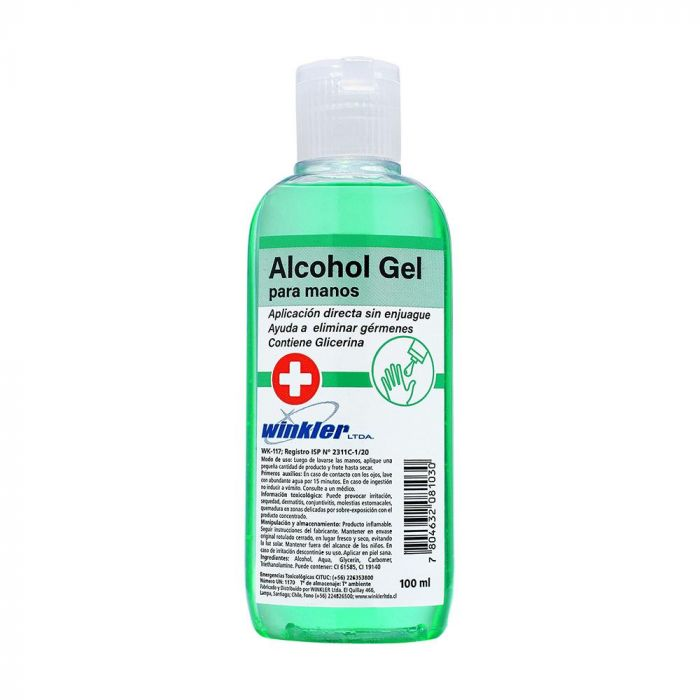 Alcohol Gel para manos 100 ml Winkler