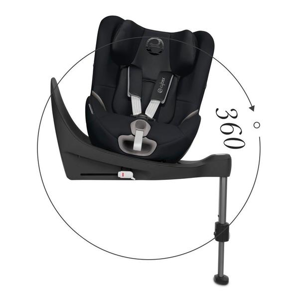 Silla de Auto Covertible Sirona S I-Size 360º Deep Black Cybex
