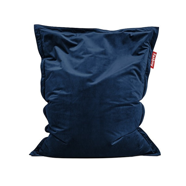 Pouf The Original Slim Velvet Dark Blue Fatboy