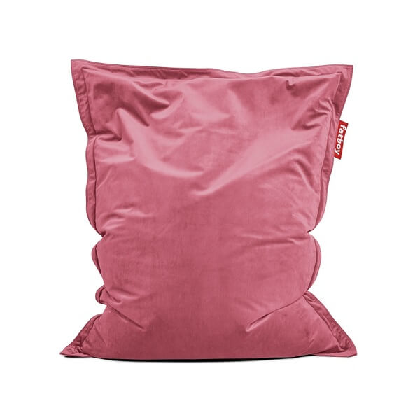 Pouf fatboy the original slim velvet deep blush