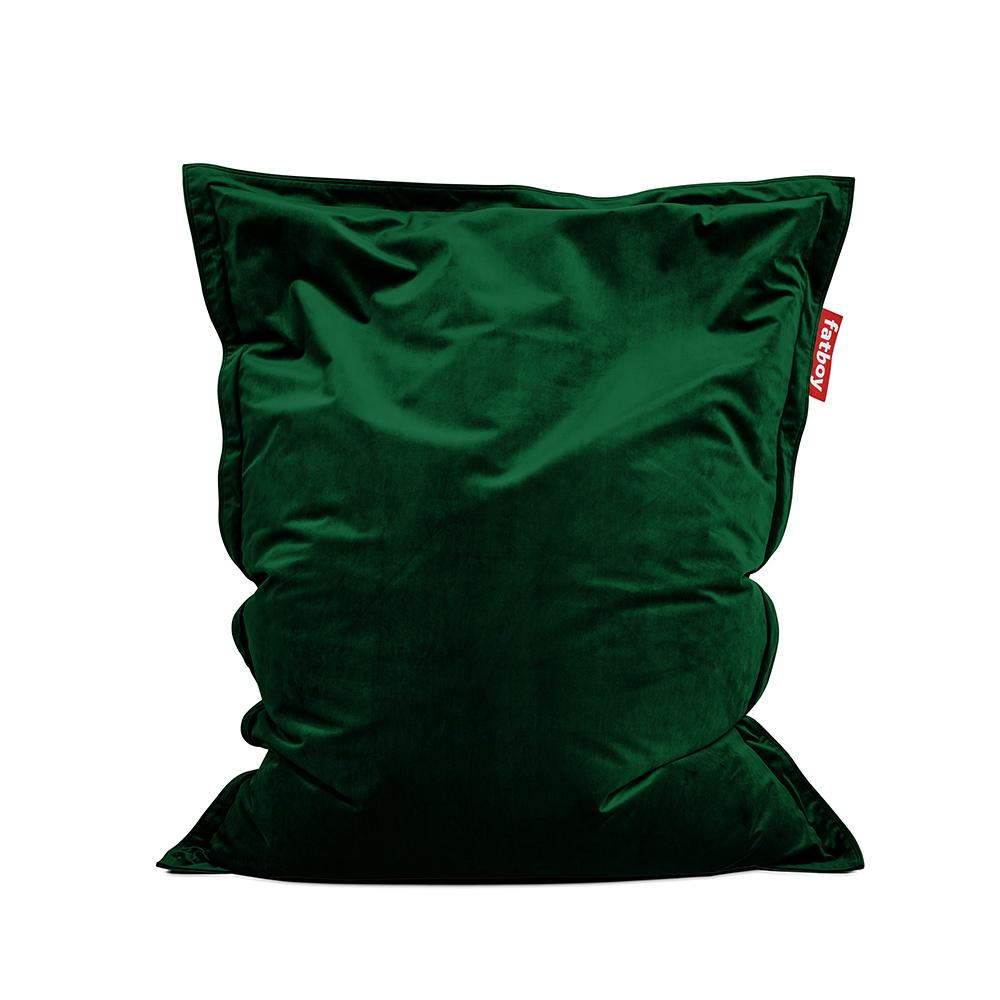 Pouf The Original Slim Velvet emerald green Fatboy