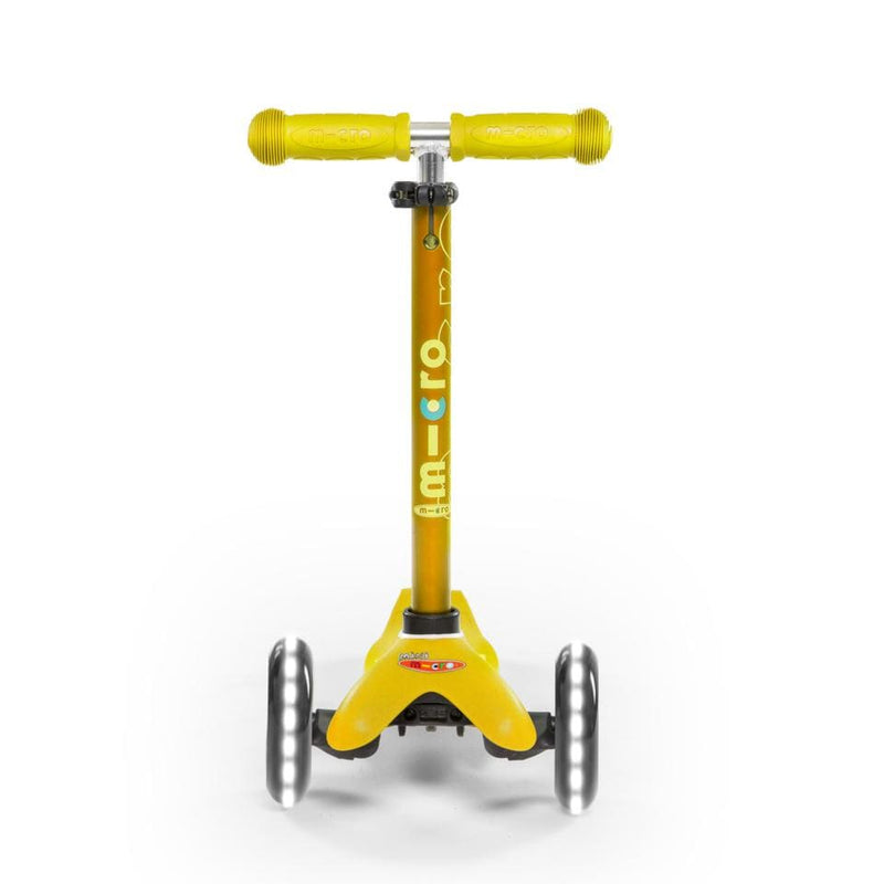 Scooter Mini Micro Deluxe Led amarillo