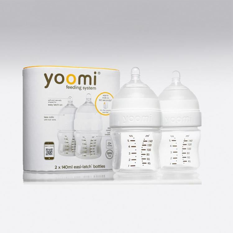 Pack 2 mamaderas Yoomi 140 ml