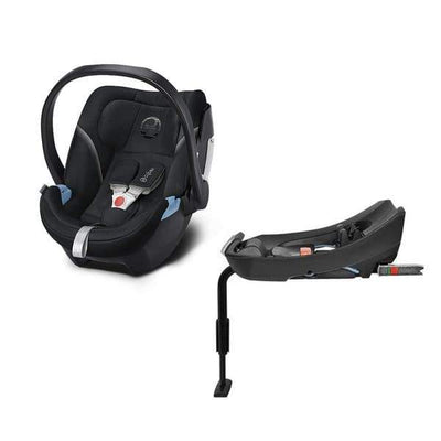 Travel System Coche GB Pockit plus All Terrain Black + Silla Nido Aton 5 y Base Cybex