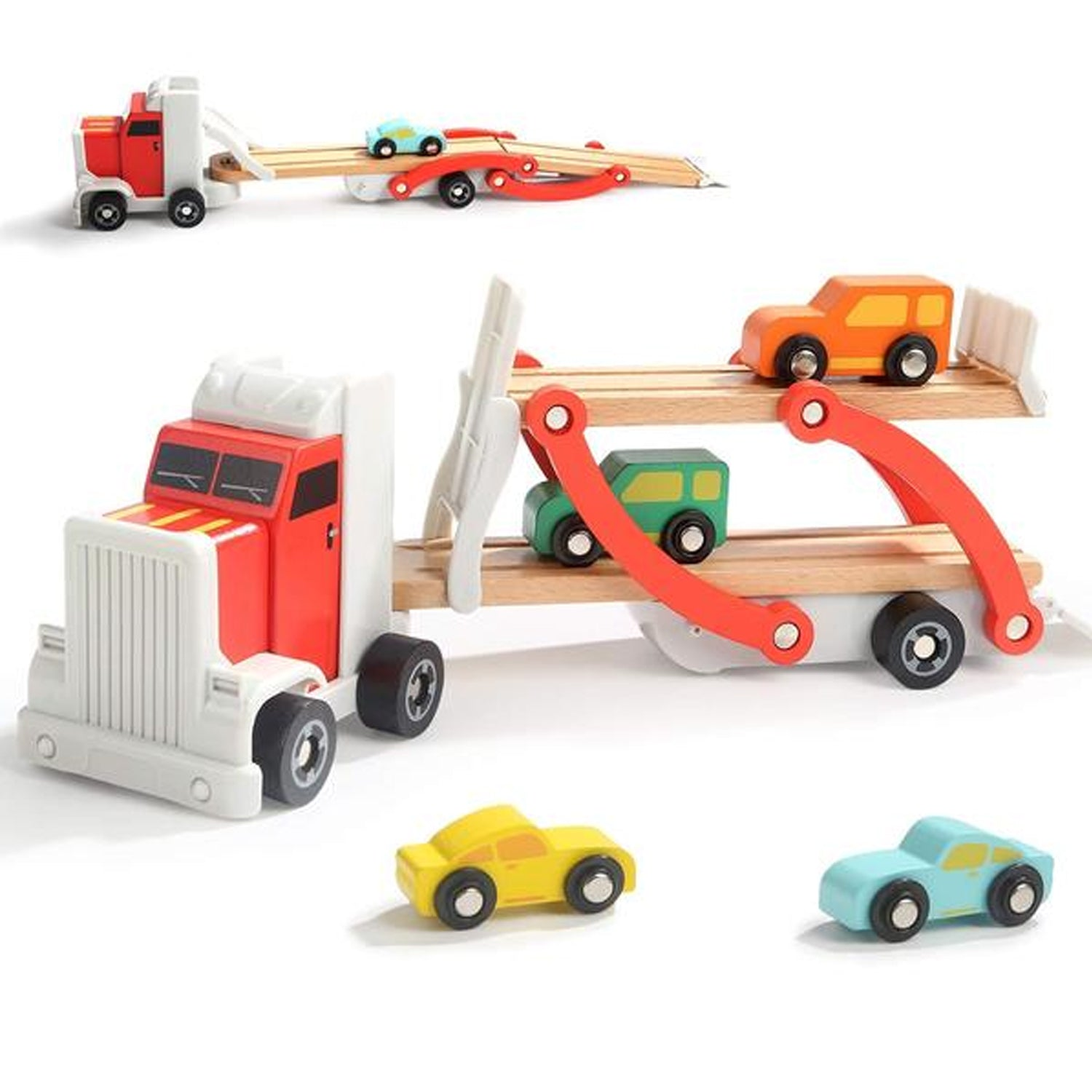 top bright wooden toy car carrier toddler toy 3 year old