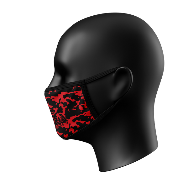 Red Camo Face Mask