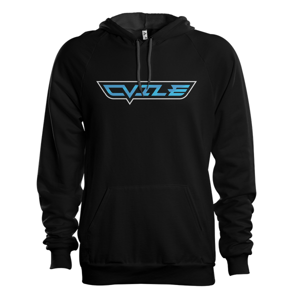 DVile Gaming Blue Text Hoodie