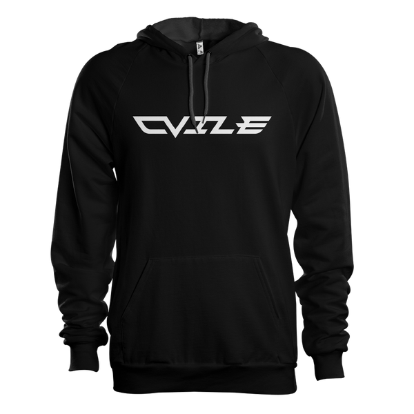 DVile Gaming White Text Hoodie