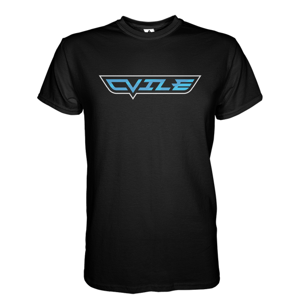 DVile Gaming Blue Text T-Shirt