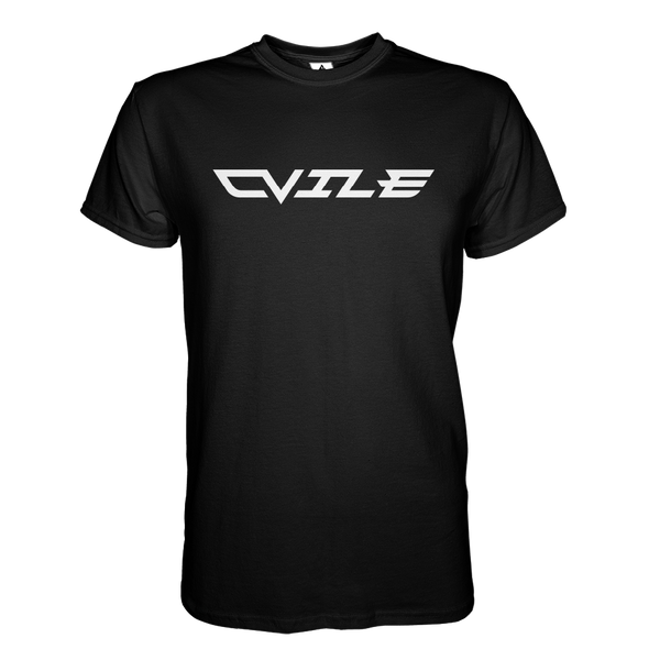 DVile Gaming White Text T-Shirt