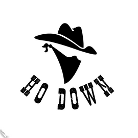 Ho Down Sticker