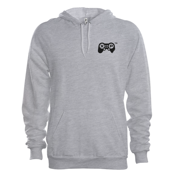 JerkyXP Hoodie Heart Print - Athletic Heather