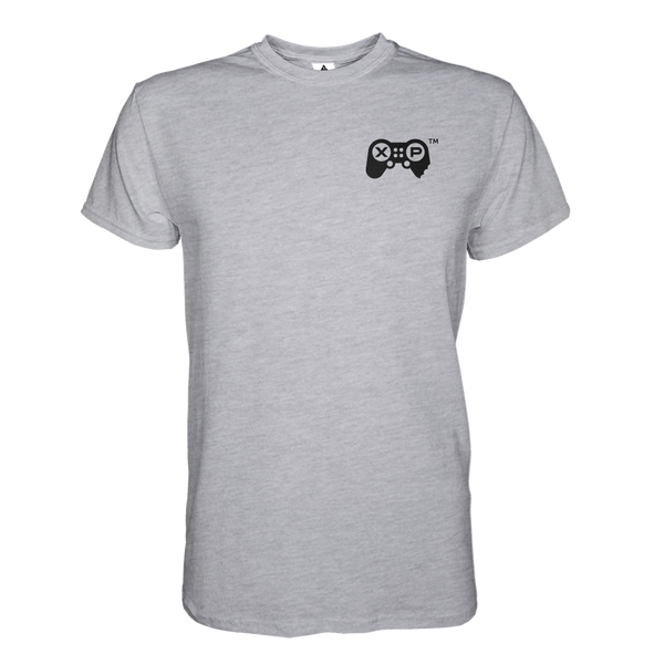 JerkyXP T-Shirt Heart Print - Heather Grey