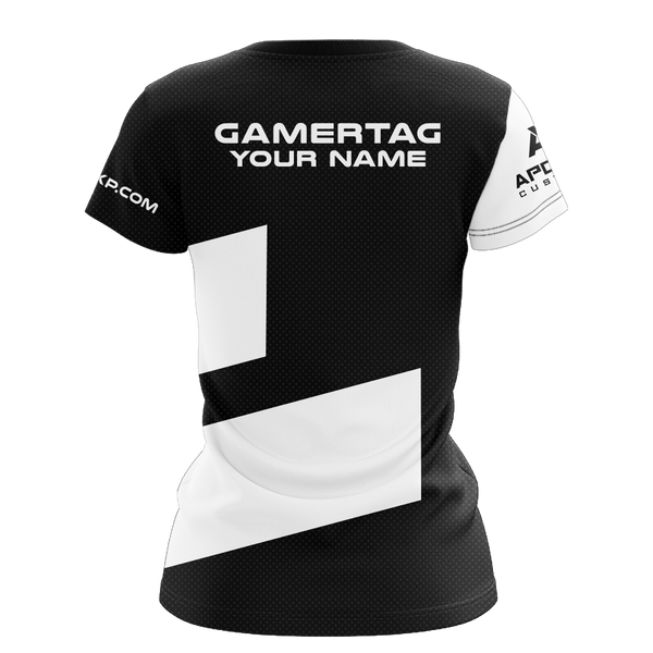 "JerkyXP ""Black Peppered"" Women's Short Sleeve Jersey"
