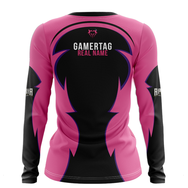 Team Lycan Womens V-Neck Long Sleeve Jersey