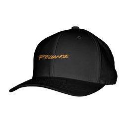 Reliance Gaming Orange Text Logo Flexfit Hat