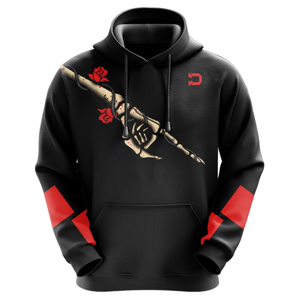 TheDevilClan Rose Skeleton Sublimated Hoodie