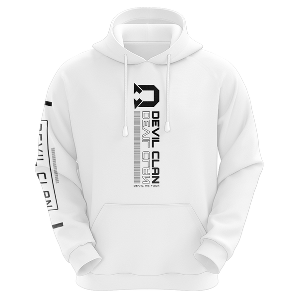 TheDevilClan Techwear Sublimated Hoodie - White