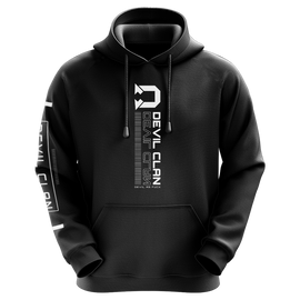 TheDevilClan Techwear Sublimated Hoodie - Black