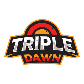 Triple Dawn Sticker