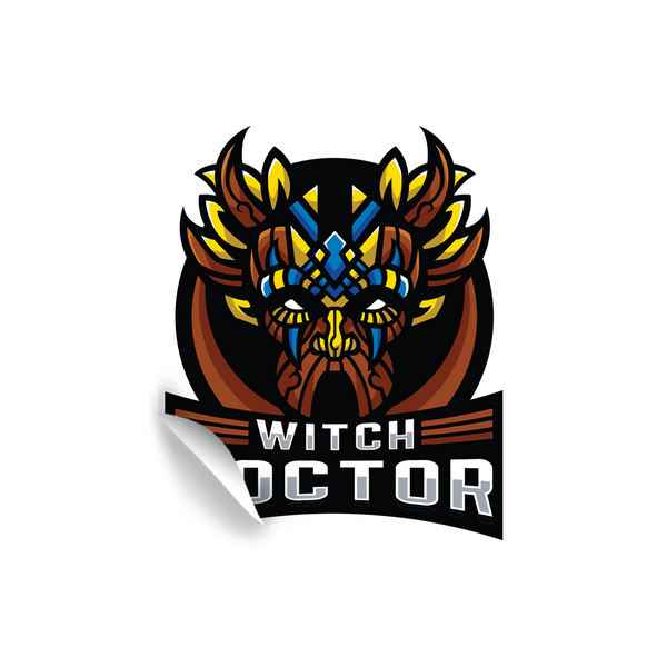 Witch Doctor Gaming Sticker V1