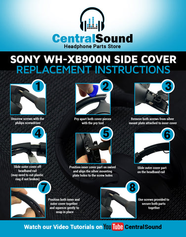 Sony WH-XB900N Replace Headband Side Cover Slider Parts