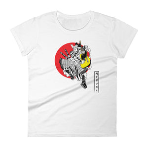 The Traditional Guitar Playing Samurai Women's Tee