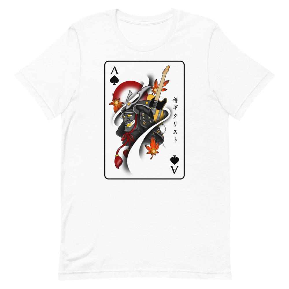 The Samurai & Guitar Playing Card Unisex T-Shirt