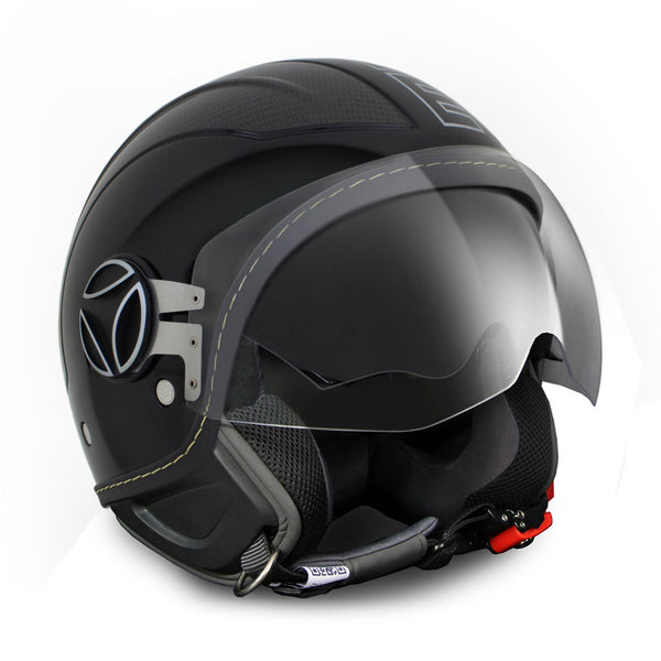 CASCO DEMI JET AVIO BLACK CARBON