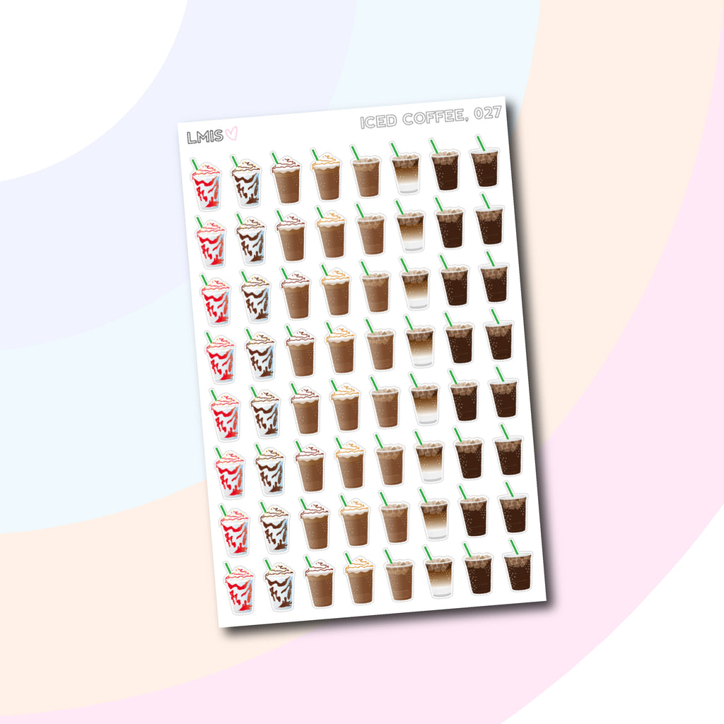 Iced Coffee Planner Stickers // 027 - Grab these stickers for your planner and let's get to it! - Let's Make It Sparkle