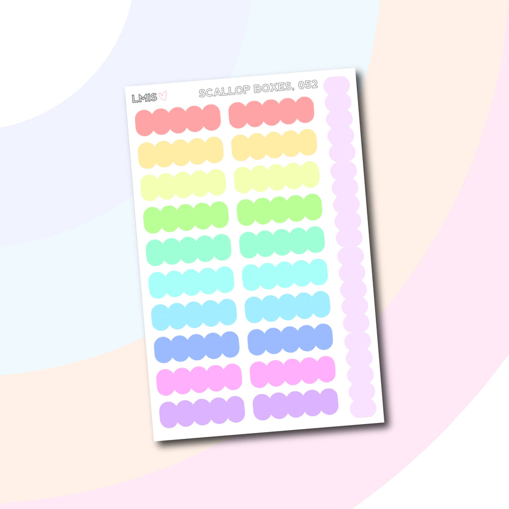 Rainbow Scallop Planner Labels // 052 - Grab these stickers for your planner and let's get to it! - Let's Make It Sparkle