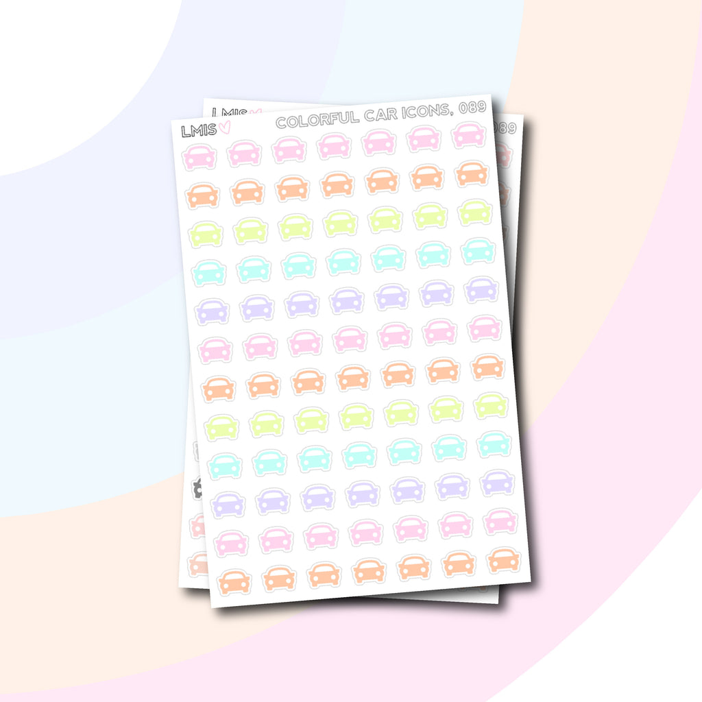Car Icon Stickers // 089 - Grab these stickers for your planner and let's get to it! - Let's Make It Sparkle