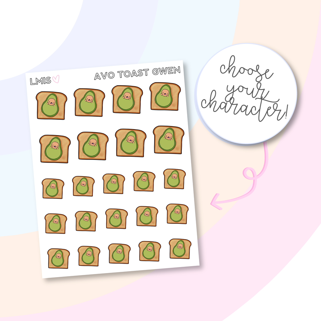 Avo Toast AvoBabe Planner Stickers, AvoBabe Stickers - Grab these stickers for your planner and let's get to it! - Let's Make It Sparkle