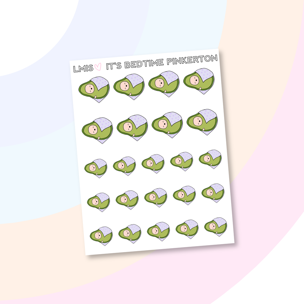 It's Bedtime AvoBabe Planner Stickers, AvoBabe Stickers - Grab these stickers for your planner and let's get to it! - Let's Make It Sparkle