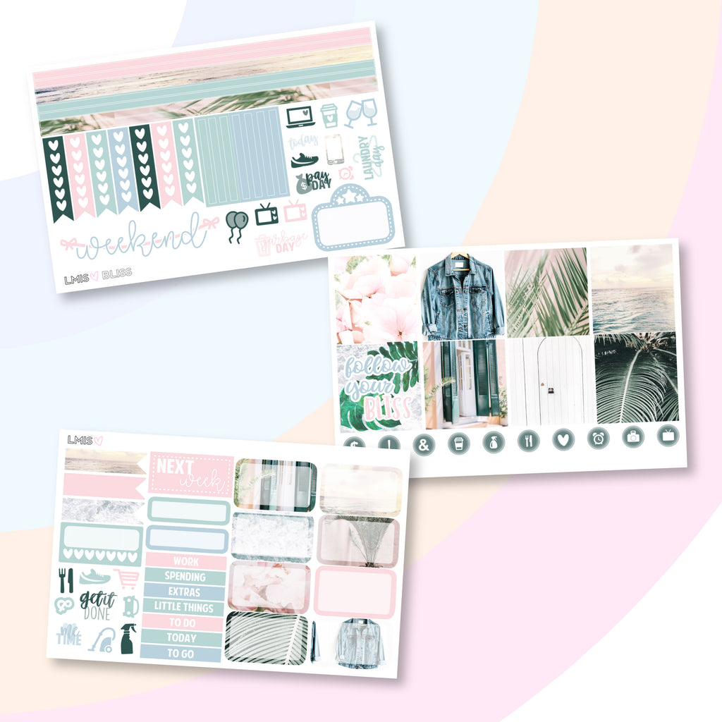 Bliss Photo Planner Sticker Kit (Horizontal) - Grab these stickers for your planner and let's get to it! - Let's Make It Sparkle