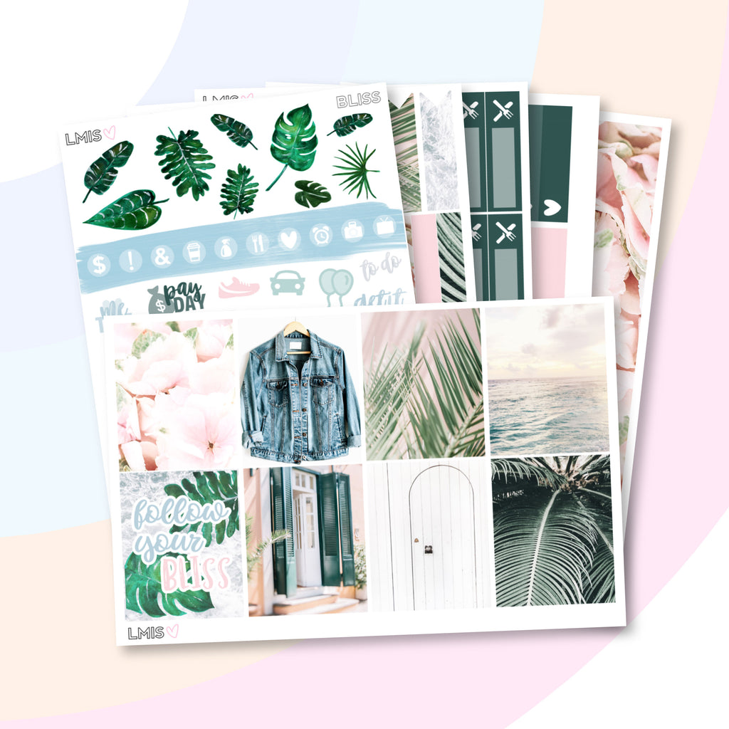 Bliss Vertical Planner Sticker Kit - Grab these stickers for your planner and let's get to it! - Let's Make It Sparkle