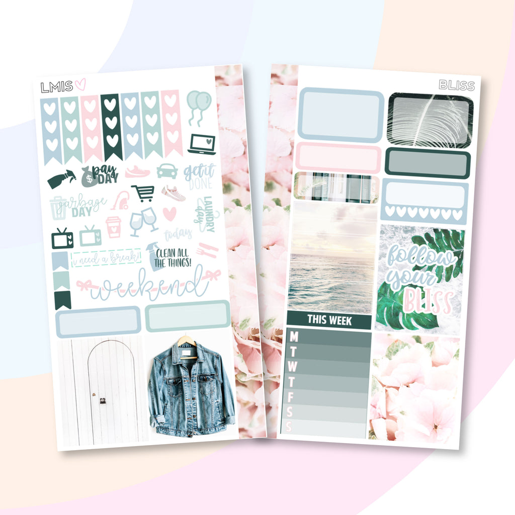 Bliss Personal Planner Sticker Kit - Grab these stickers for your planner and let's get to it! - Let's Make It Sparkle