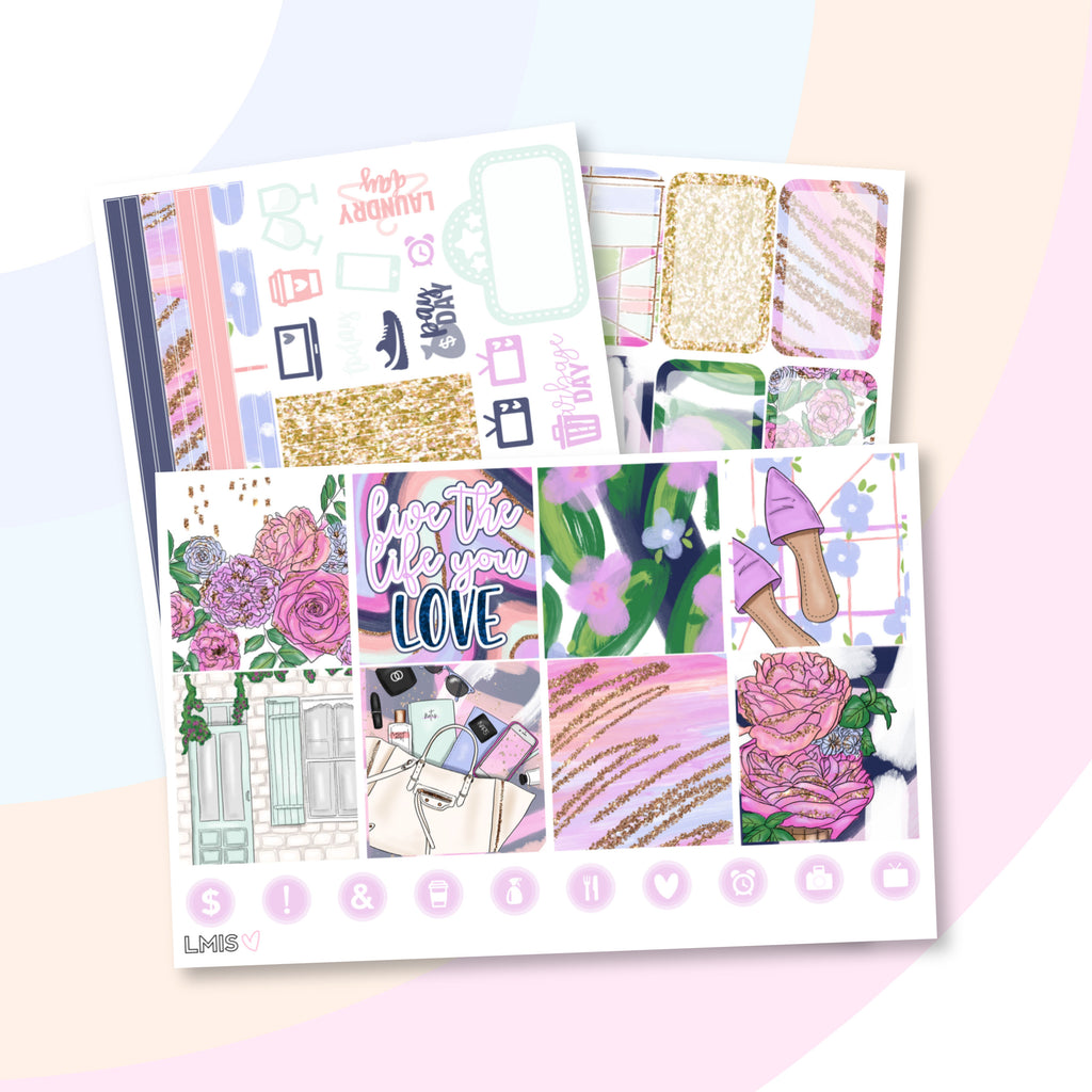 Blush Worthy Planner Sticker Kit (Horizontal) - Grab these stickers for your planner and let's get to it! - Let's Make It Sparkle