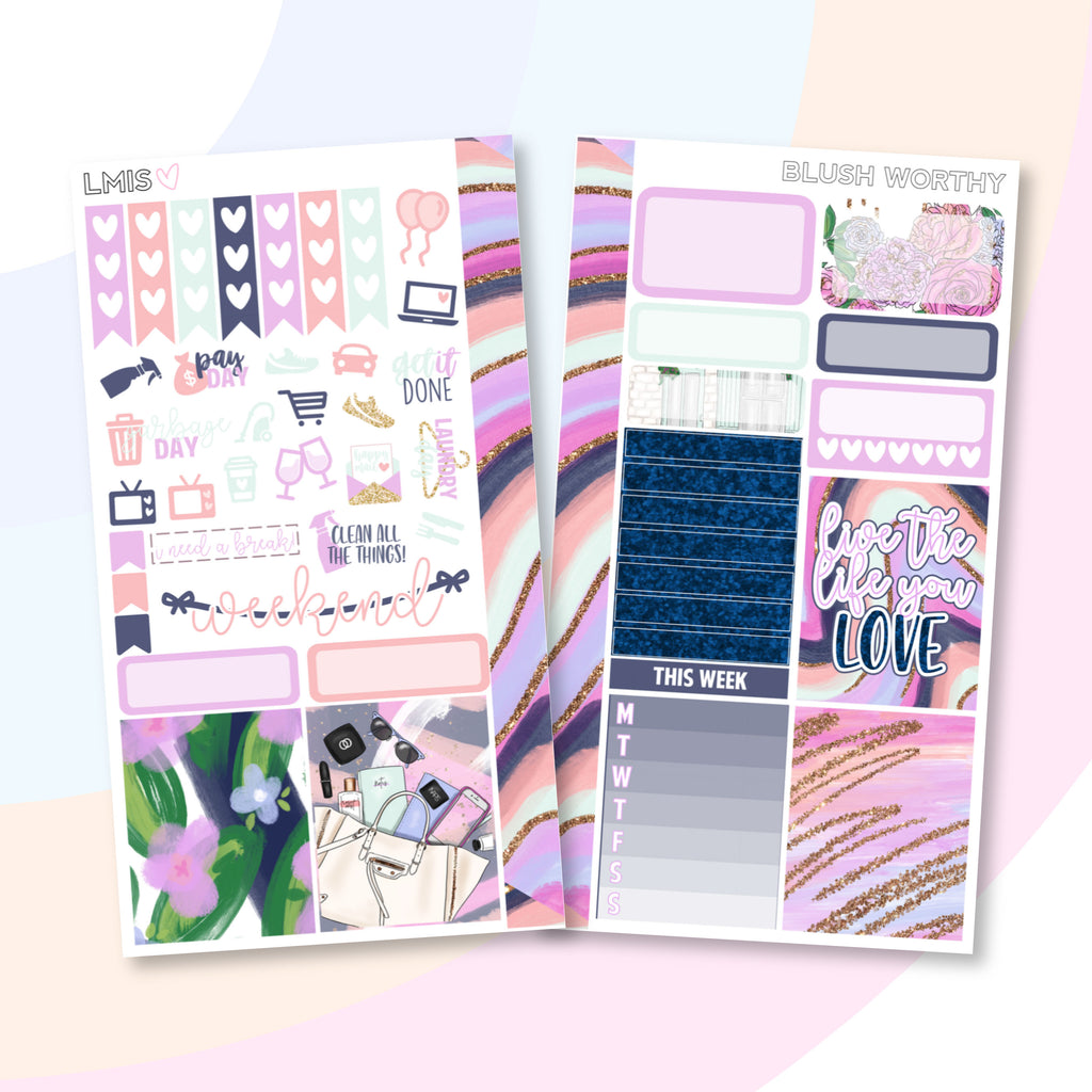 Blush Worthy Personal Planner Sticker Kit - Grab these stickers for your planner and let's get to it! - Let's Make It Sparkle